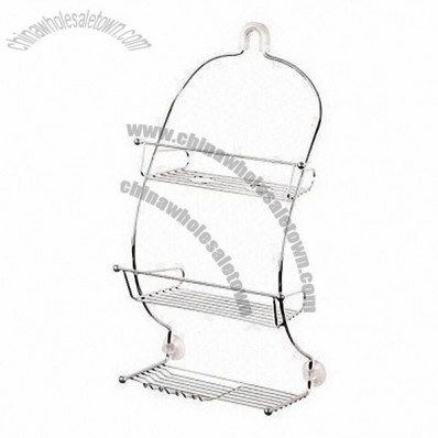 Curve Shower Caddy with Suction Caps