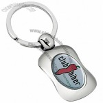 Curved Full Color Metal Key Chain