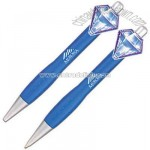 Custom 3D translucent clip pen and pencil