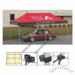 Custom 500 Denier water resistant polyester top canopy, includes a carry bag