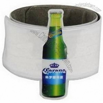 Custom Beer Bottle Shape Reflective Slap Wristband