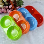 Custom Double Plastic Pet Bowls