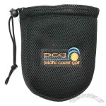 Custom Drawstring Golf Valuables Pouch with durable mesh material