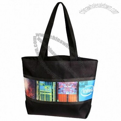 Custom Made Nylon Tote with Custom Panels