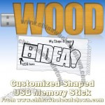 Custom Shaped Wood USB Flash Drive