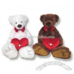 Custom plush Valentine's day teddy bear with heart