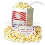 Custom printed striped design microwave popcorn bag