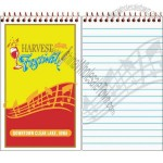 Custom spiral bound memo book with 50 sheets, 1/4