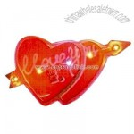 Custom two hearts shape flash lapel pin