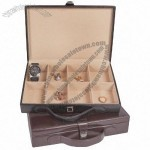 Customised Leather Cufflink Box