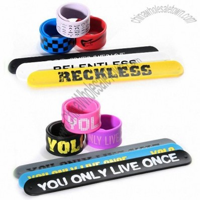 Customizable Silicone Slap Bracelets