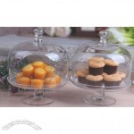 Customized Clear Glass Cake Dome Cover