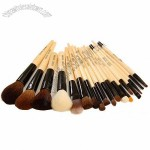 Customized Cosmetic Brush With Wooden Handle