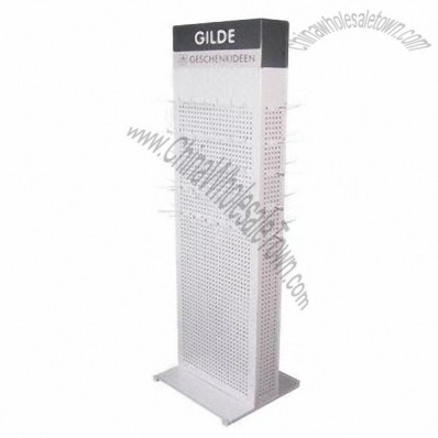 Customized Metal Display Stand with Hooks, Reliable Supplier for Big Brand Customer