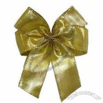 Customized Metallic Ribbon Bow With Adhesive Tab At Back