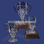 Cut crystal trophy cup