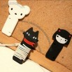 Cute Bear&Girl&Cat Earphone Winder/Wrap Cable Cord Wire holder Management Cord Winder
