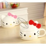 Cute Cartoon Ceramic Mug With Lid