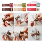 Cute Cartoon Earphone Cable Winder, Cord Holder Organizer