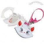 Cute Cat Cosmetic Mirror with Lanyard