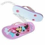 Cute Children's Slippers with EVA Sole and PVC Strap