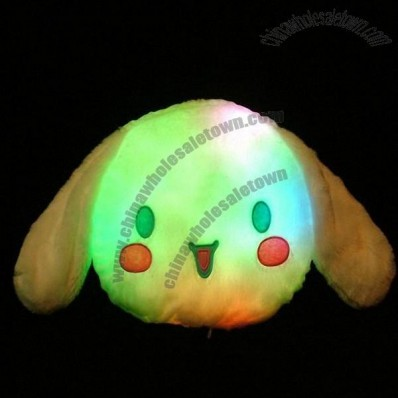Cute Dog Colorful LED Pillow