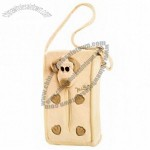 Cute Doggie Style Tissue Box Car Tissue Holder Case With Hanging Rope Khaki