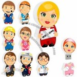 Cute Man Shaped USB Flash Drive With Custom Character