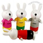 Cute Metoo Rabbit Cartoon Piggy Bank Coin Money Box