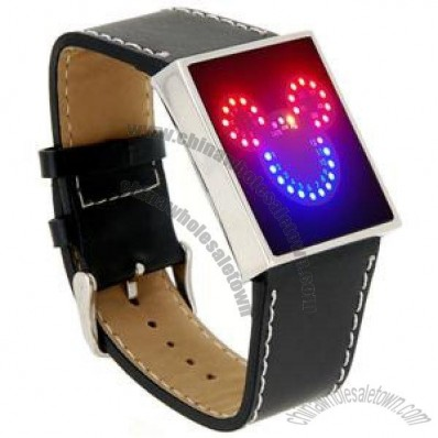 Cute Mickey Mouse LED Watch