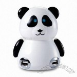 Cute Mini Panda 4-port USB HUB