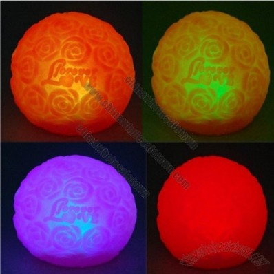 Cute Romantic Spherical Shape Roses Pattern 7-color Changing LED Lamp Light