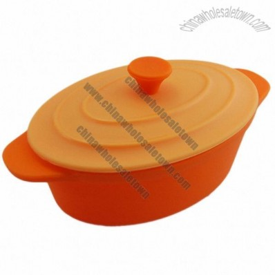 Cute Silicone Bowl with Lid for Kids