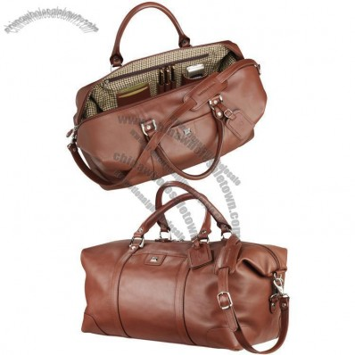 Cutter & Buck Leather Weekender Duffel