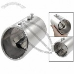 Cylinder Shaped Oval Slant Cut Exhaust Muffler Tip for Car
