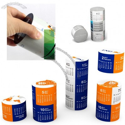Cylindrical Magnetic Calendar