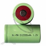 D NiMH 1.2V/12,000mAh Rechargeable Battery