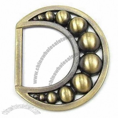 D Shape Garment Buckle, Antique Bronze Tone