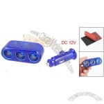 DC 12V Car Cigar Lighter Triple Cigar Socket Splitter Adapter