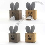 DIY Self-assembly Wooden Rabbit Style Tissue Box