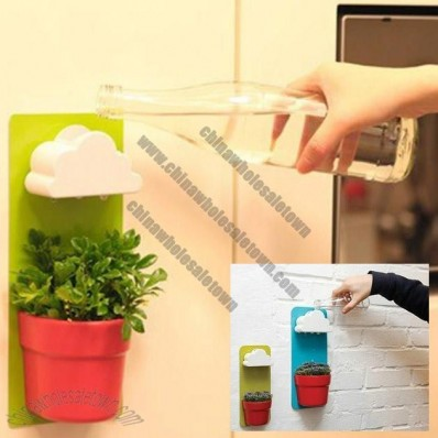 DIY Wall-mounted Rain Clouds Planters