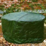Dark Green PE Cloth Round Table Cover