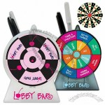 Dart board / decision maker pen holder with two magnetic darts