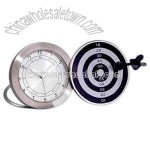 Dartboard metal alarm clock