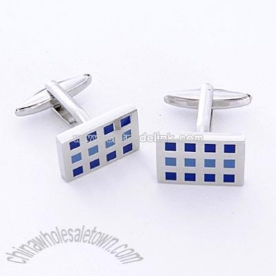 Dashing 12 Square Cufflinks with Personalized Case