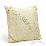 Decent Car Hold Pillow Back Cushion Throw Pillow With Embroidery Pattern Khaki