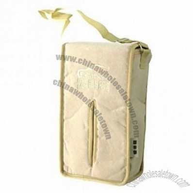 Decent Tissue Box Car Tissue Holder Case With Hanging Rope Khaki