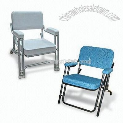 Deck Chair Made of Aluminum Alloy with PVC Cloth Cover
