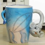 Decorative 3D Animal Design Ceramic Coffee Mug