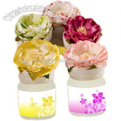 Decorative Car Air Freshener with Paper Floral Top